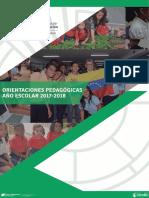 Orientaciones Pedagogicas Del Ministerio de Educacion 2017-2018