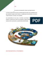 Evolucion y eras geológicas