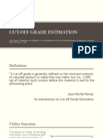 Cutoff Grade Estimation