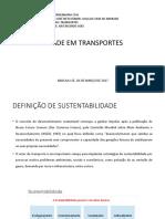 Sustentabilidade Em Transportes