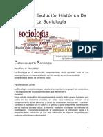 1-UdI- Origen y Evolución Hx Sociología