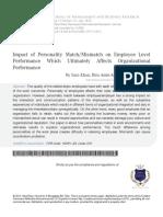 6 Impact of Personality Match Mismatch