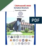 JEE Advanced 2018 Brochure