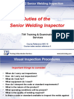 Duties of-The Senior Welding Inspector