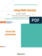 Overcoming Math Anxiety Presentation