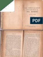 Schiller-cartas-educación Estética Del Hombre-XV a XIX