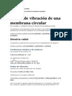 Vibración de una membrana circular