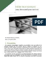 L'Amnésie Traumatique - Un Mécanisme Dissociatif Pour Survivre.