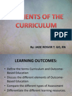 CD-elements of the Curriculum