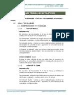 ESTRUCTURAS - ESPECIFICACIONES