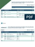 International Gcse Timetable