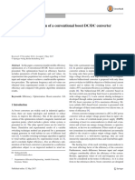 Efficiency Optimization of a Conventional Boost DC DC Converter