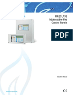 FireClass FC510 FC520 Addressable Fire Alarm Control Panel Manual