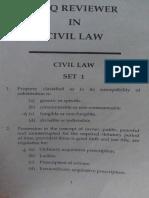 Set 1  Reviewer Civil Law