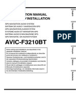 Pioneer Avic f3210 Bt Installation Guide 778465