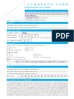 Travel Currency Refund Form