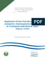 Reglamento Tecnico Salvadoreño Para La Instalacion y Funcionamiento de Sistemas de Tratamiento Individual de Aguas Negras y Grises