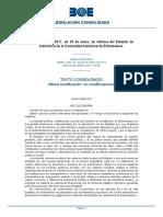 Reforma Estatuto de Autonomía Extremadura