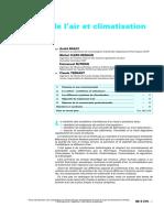 Traitement de l'Air Et Climatisation. Généralités.(o)