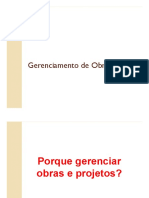 Aula 01 - Revisão GERENCIAMENTO DE OBRAS