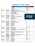 Exam Personal Time Table