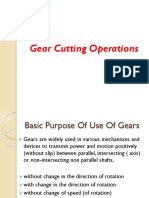 Gear Cutting Operations