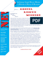 April 2008 Anchorage Gospel Rescue Mission Newsletter