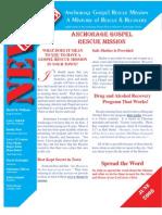 June 2009 Anchorage Gospel Rescue Mission Newsletter