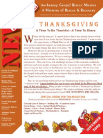 November 2008 Anchorage Gospel Rescue Mission Newsletter