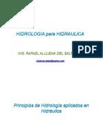 Hidrologia en Hidraulica de Las Minas ..