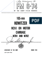 FM6-74 105mm Howitzer on Motor Carriage M7B1 and M7B2