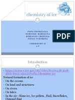 The Chemistry of Ice