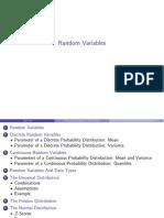 Statistics Notes on Random Variables