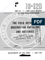FM6-120 The Field Artillery Observation Battalion and Batteries