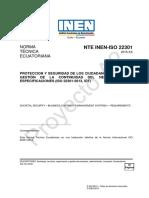 Nte Inen-Iso 22301