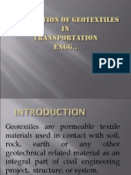 Application of Geotextiles In