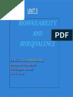 Bio Availability and Bio Equivalence