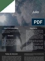 Libro de producción Julio