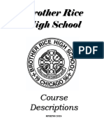 Brother Rice High School Course Descriptions Booklet 2018