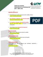 Calendario de Estadias ING ENE-ABR 2018