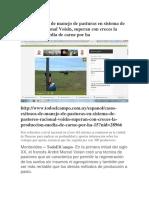 Casos Exitosos de Manejo de Pasturas en Sistema de Pastoreo Racional Voisin