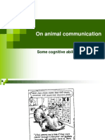 EVOLUTION of GRAMMAR on Animal Communication 15.06.07