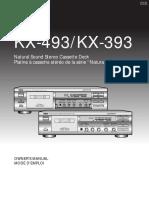 Yamaha KX-493_KX-393 Cassete Deck Owners Manual