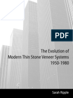 The Evolution of Modern Thin Stone Veneer Systems, 1950-1980
