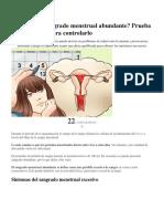 Padeces de Sangrado Menstrual Abundante