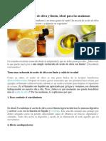 Cura Del Aceite de Oliva y Limón
