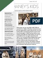 Mr. Haney's Week 21 Newsletter