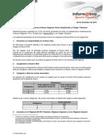 Informativo Tributario Establecen Modificaciones Nuevo Régimen Único Simplificado y Código Tributario 26.12.16