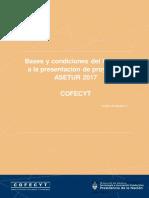 Bases y condiciones del  Cofecytmct convocatia ASETU 2017