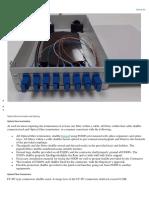 Optical Fibre Termination and Splicing